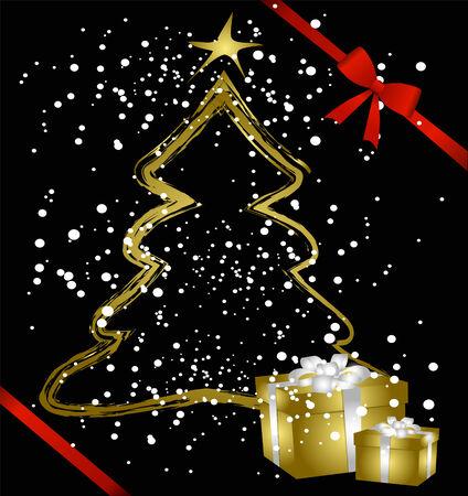 solemn: Fondo de Navidad con paquetes de regalo