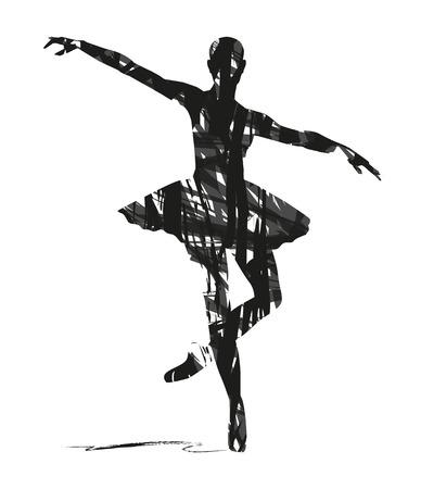 ダンサーの抽象的なシルエット  イラスト・ベクター素材