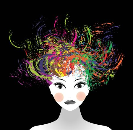 incarnate: woman face and splash of colors