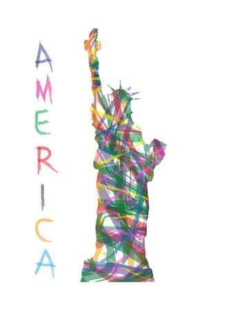 abstrakte Freiheitsstatue