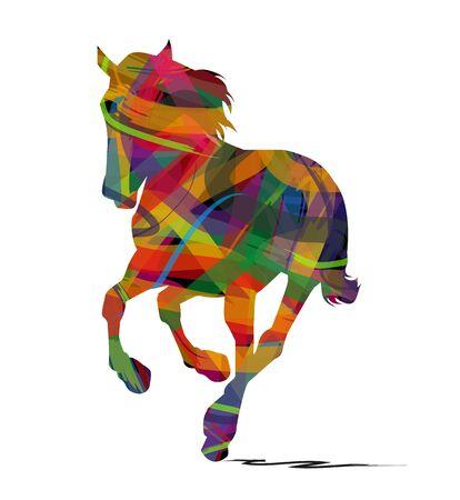 abstrakt Pferd