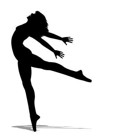 bailarina de ballet: silueta de la bailarina