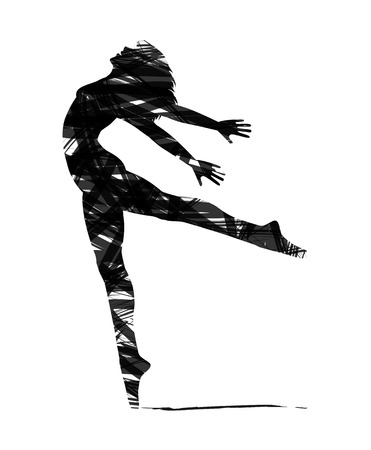 abstract silhouet van een danser