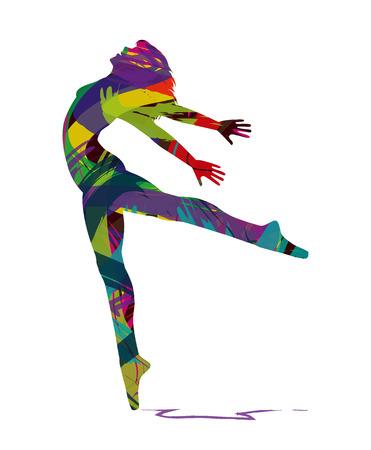 t�nzerinnen: Silhouette einer T�nzerin Illustration