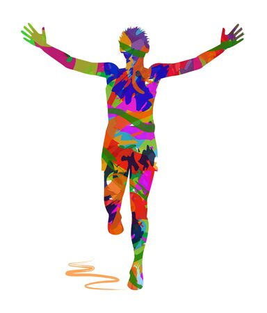 abstract Winning Athlete