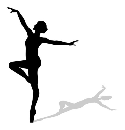 pirouette: silhouette of a dancer