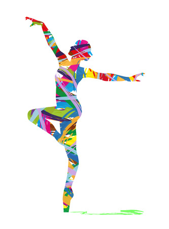 disco dancer: abstract silhouette of a dancer