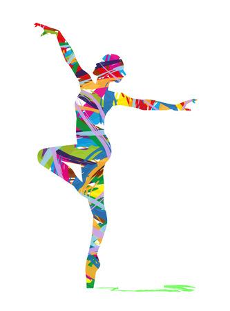 Silueta abstracta de una bailarina Foto de archivo - 37749832