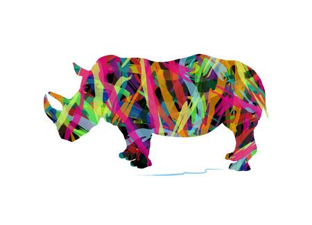 herbivore: abstract silhouette of rhinoceros