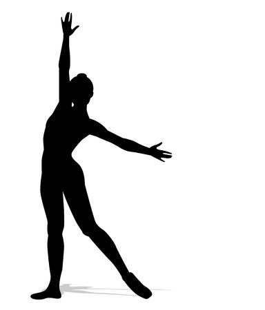 ballerina silhouette: silhouette of a dancer