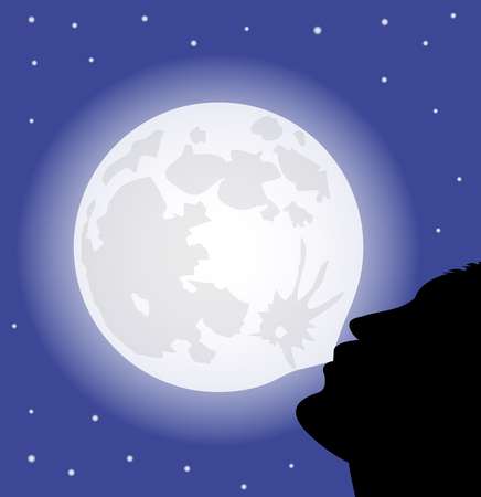 irony: Man makes a ball with the full moon