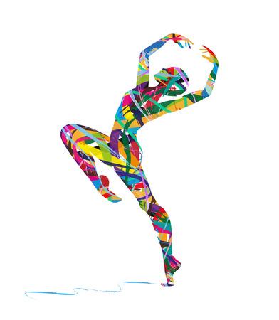 abstrait danseur silhouette Vecteurs