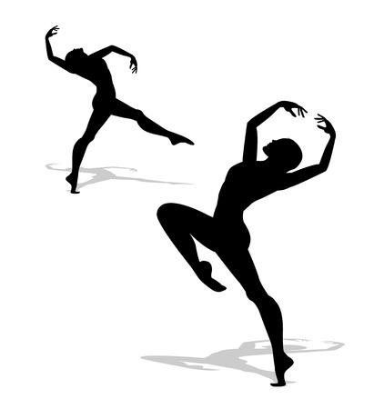 ballet dancing: dancer silhouette