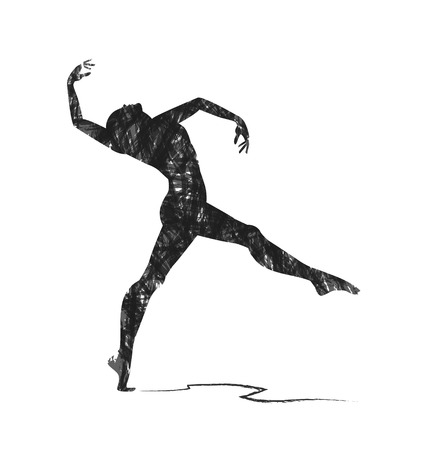 black people dancing: abstract dancer silhouette