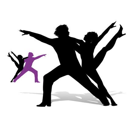 bailarines silueta: silhouette dancers