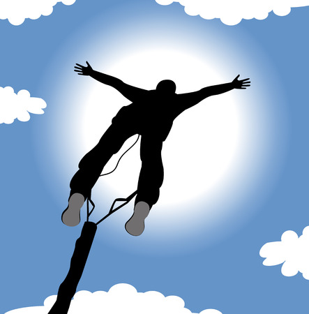 exciting: bungee jumping Illustration