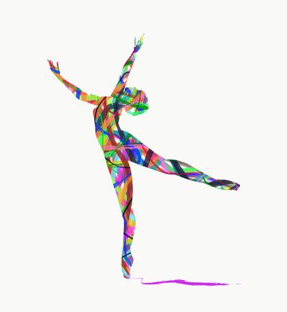 bailarina de ballet: abstracta bailarina silueta Vectores