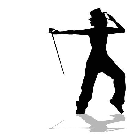 danseres silhouet: danserssilhouet