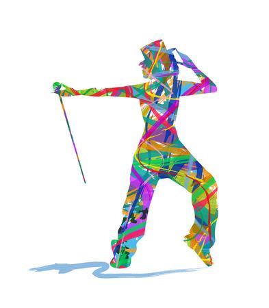 abstracta bailarina silueta