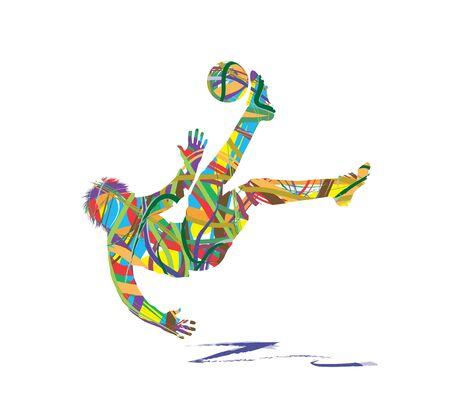抽象的なサッカー選手シルエット
