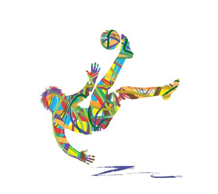 abstract football player silhouette Illustration