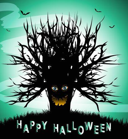 halloween scary: Scary Halloween Tree