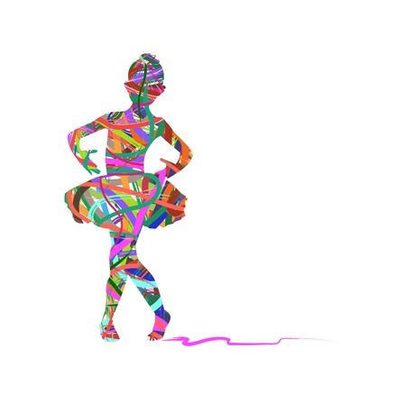 ballerina silhouette: Little ballerina silhouette