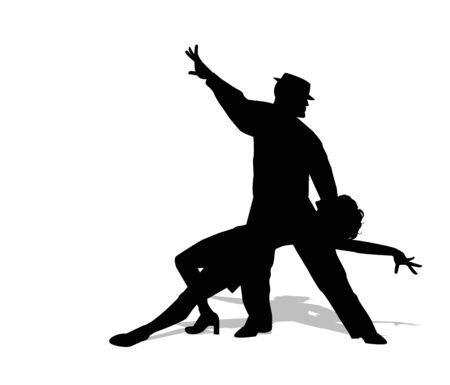 bailarines silueta