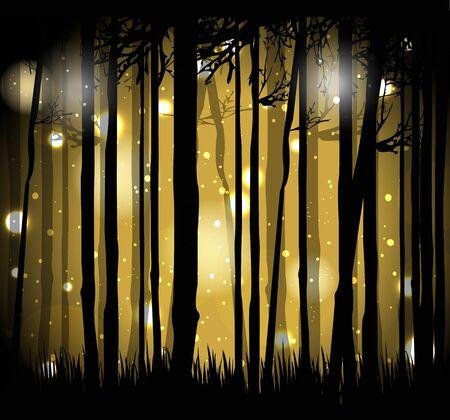 illustratie van magisch bos