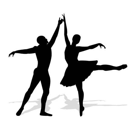 dancers silhouette: dancers silhouette Illustration