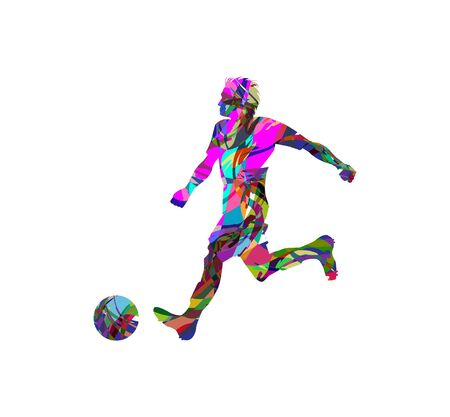 fotball: abstract football (soccer) player silhouette