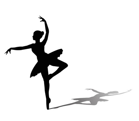 dancer silhouette on white background  イラスト・ベクター素材