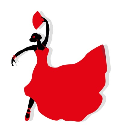 Flamenco dancer silhouette