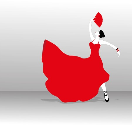 Flamenco dancer silhouette Illustration
