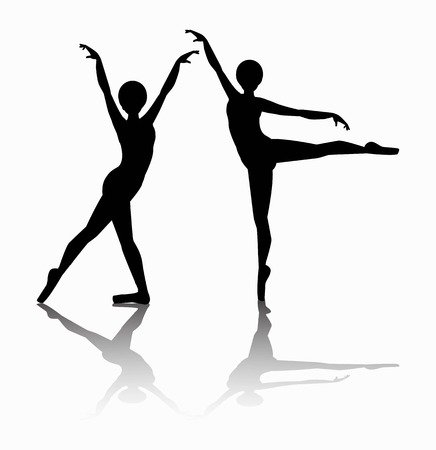 vector illustration of dancers silhouette Illustration