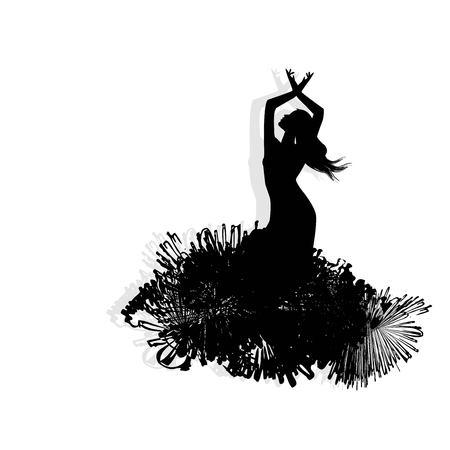 Flamenco dancer silhouette Illustration
