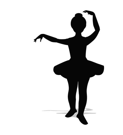 wench: ballerina silhouette on a white background