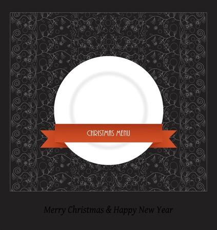 solemn: Christmas menu - vector illustration Illustration
