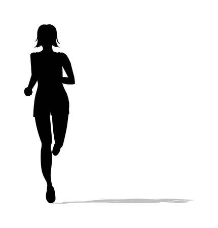 Creative ornamental silhouette of woman running Illustration
