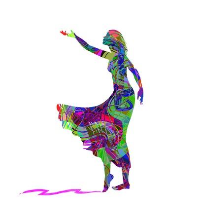 abstract illustration of girl Illustration