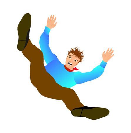 Vector illustration of falling man