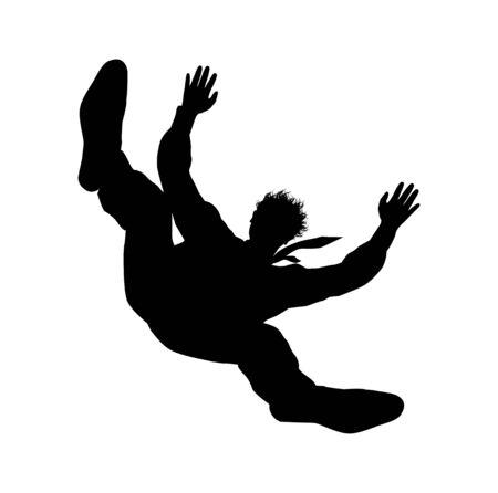 Abstract illustration of falling man
