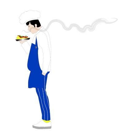 Vector illustration of a chef person