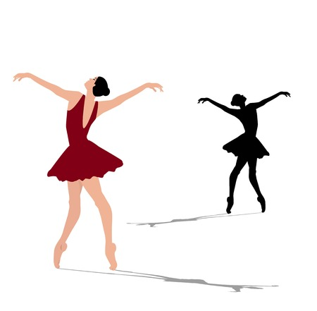 article icon: Ballerina silhouette on a white background Illustration