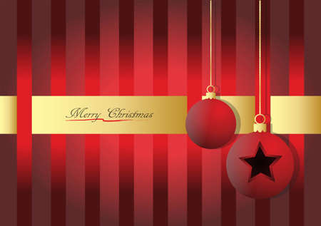 Christmas decoration on red and gold background.