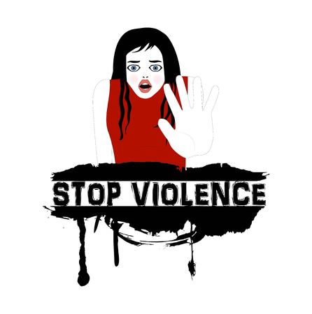 symbolic illustration to stop violence on women