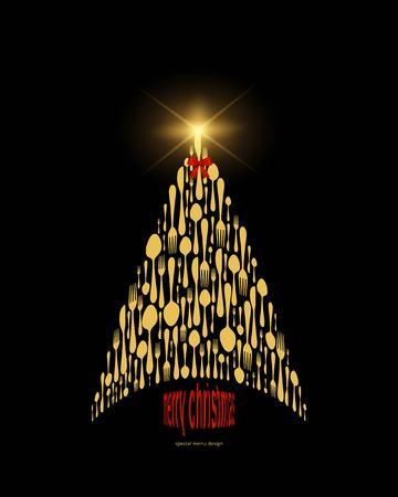 vector illustration for Christmas menu