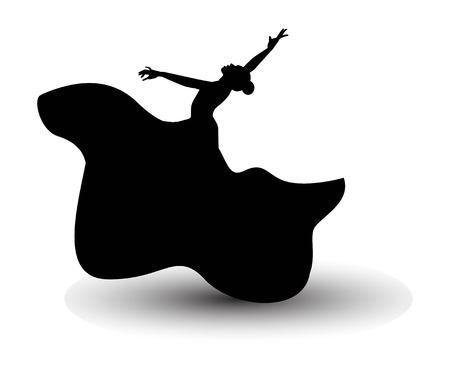 Spanish Flamenco dancer icon. Ilustracja