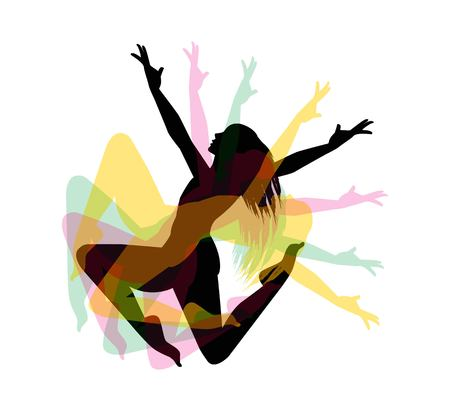 Ballerina silhouette on a white background vector Illustration
