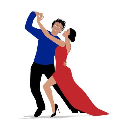 Dance couple vector design